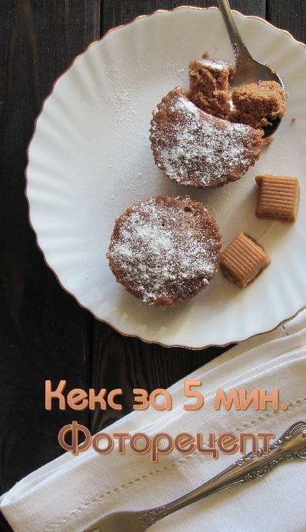 КЕКСЫ ЗА 5 МИНУТ