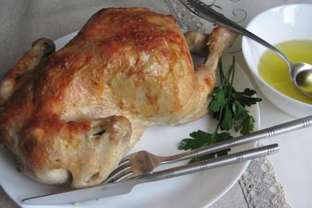 Цыплёнок роти – курица по-французски в духовке