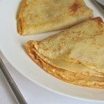 Блинчики-крепы с ветчиной, грибами и сыром