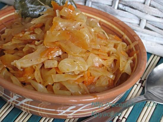 Рецепт тушеной капусты. Очень вкусно!