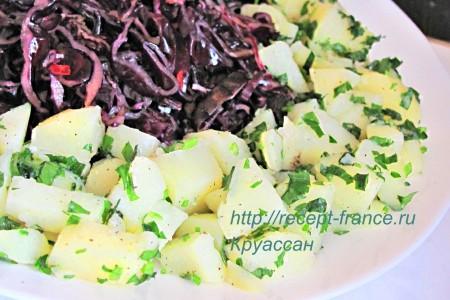 Картофельный салат с капустой