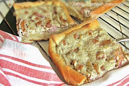 Тарт фламбе – французская пицца