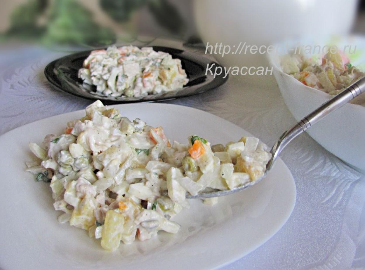 Салат оливье с курицей название — pic 2