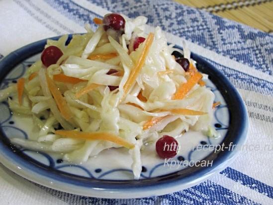 Салат из капусты с клюквой