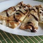 Блинчики с бананами и шоколадом