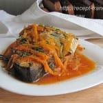 Рыба, тушённая с овощами