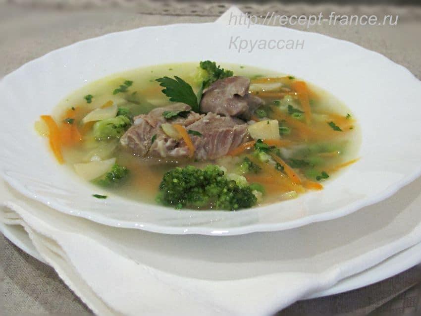 Суп из индейки с овощами