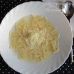Суп с макаронами и сыром