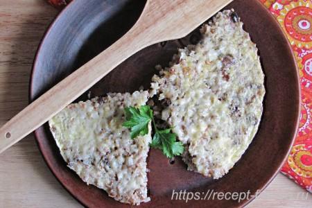 Гречник слоеный: гречка с грибами и сыром
