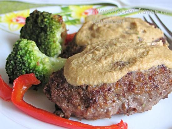 Рубленая говядина с горчицей и хреном