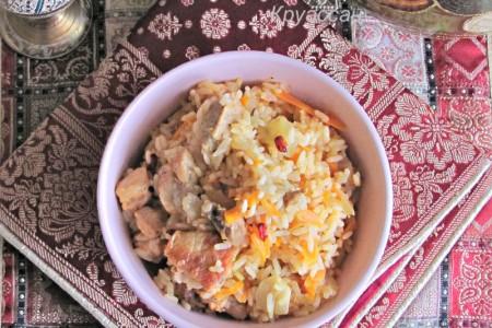 Плов из свинины – русское блюдо по восточным мотивам