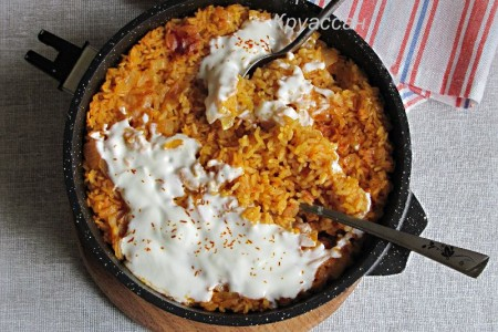 Рис, запеченный в духовке
