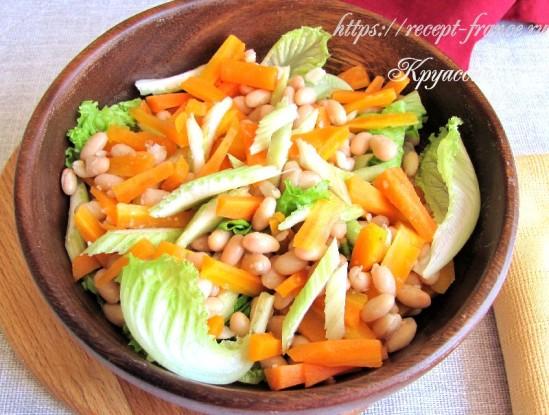 Простой и вкусный салат из фасоли