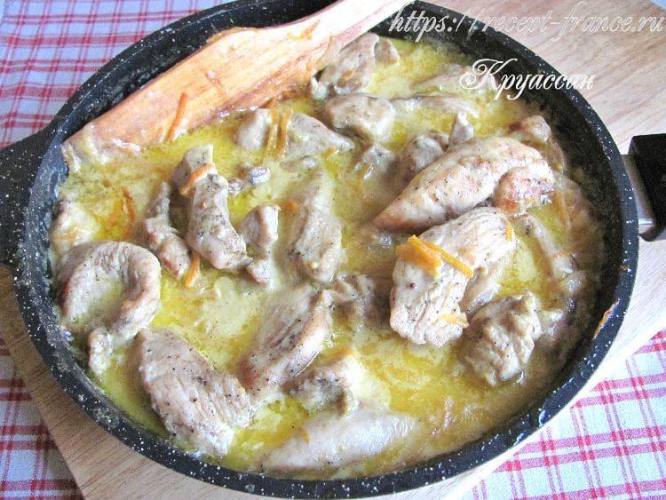 куриное филе в сметанно-горчичном соусе