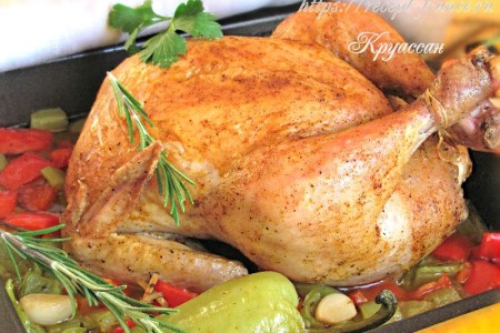 Курица со сладким перцем