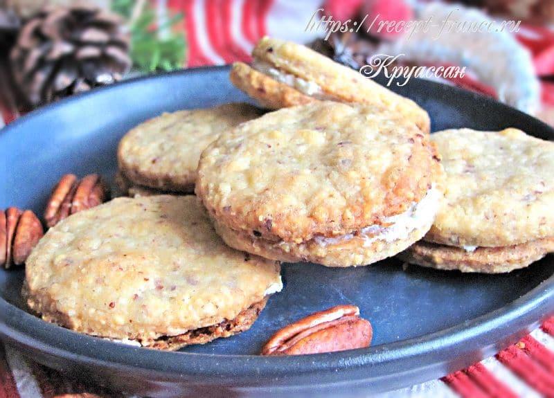 закусочное печенье с творожным сыром