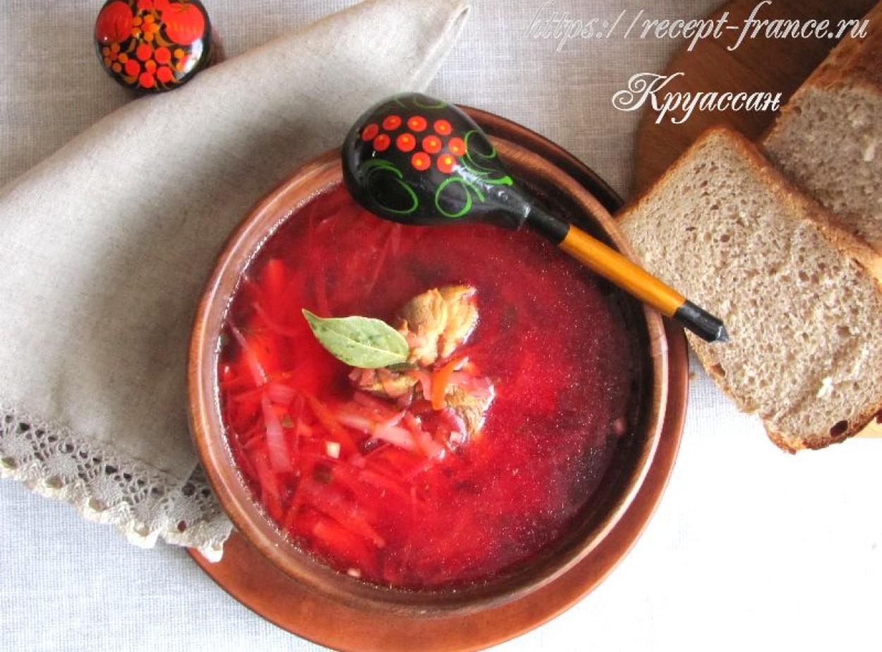 Домашний борщ: красный, вкусный, ароматный