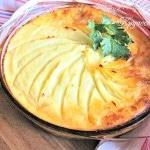 Запеканка с фаршем и картофельным пюре