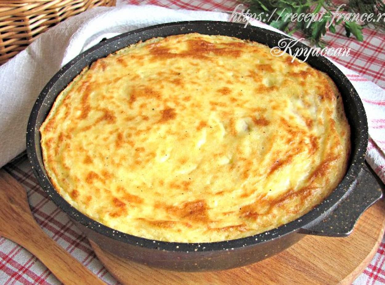Запеканка из рыбы и картофельного пюре с сыром