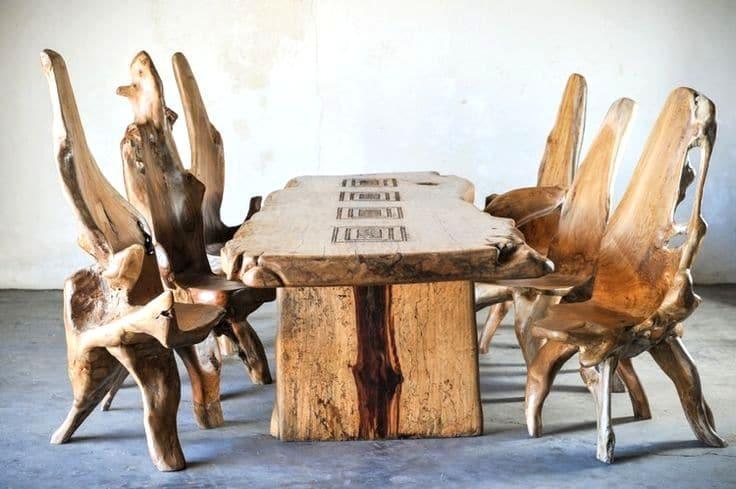 стол из древесины тамаринда