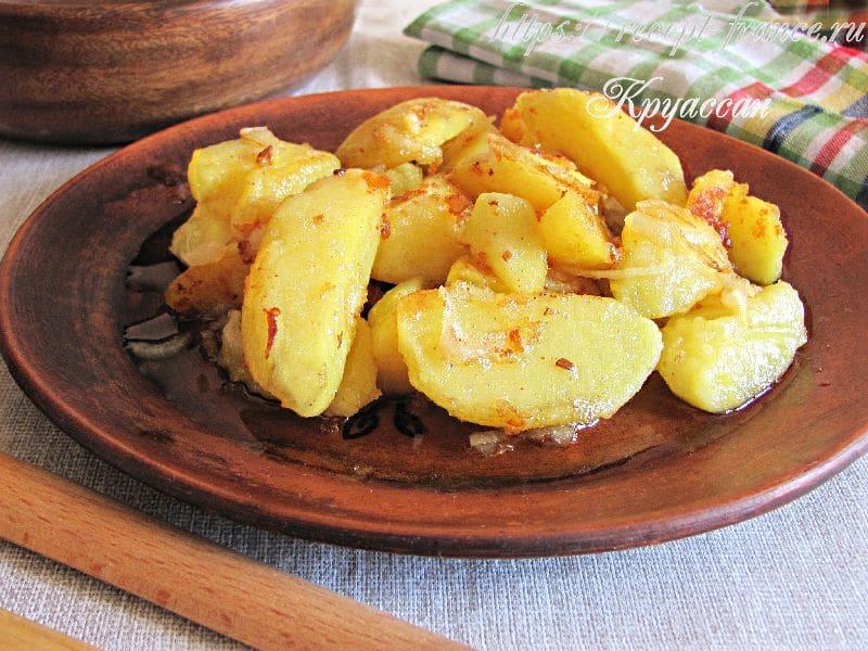отварная картошка по-деревенски