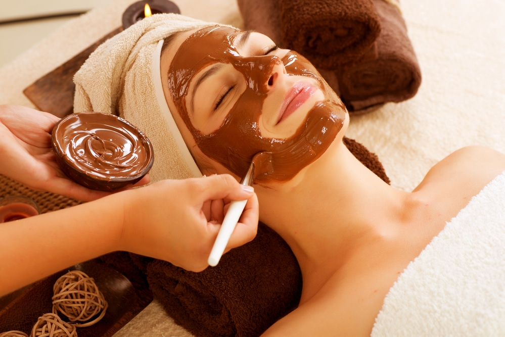 маска для лица, шоколад