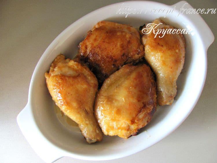 курица с медом и лимоном, приготовление