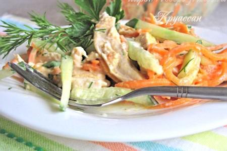 Салат из курицы и моркови по-корейски