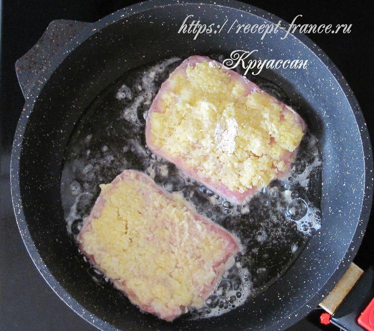 свинина с пармезаном - приготовление