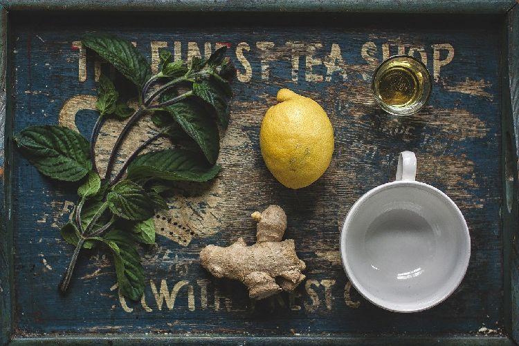 лимон, имбирь