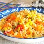 Рис с овощами на сковороде – это вкусно! Фото рецепт