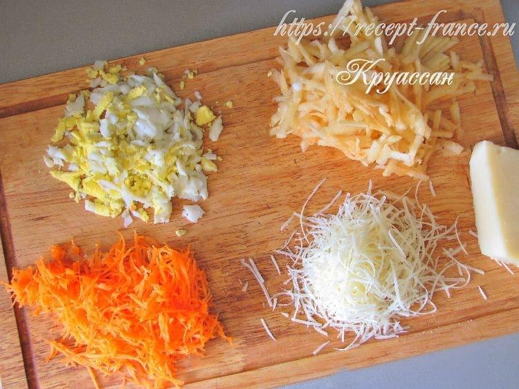 салат французский, приготовление