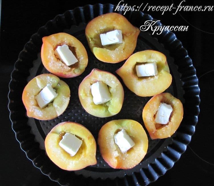 запеченные персики-приготовление