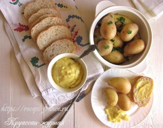 Домашний айоли с молодой картошкой
