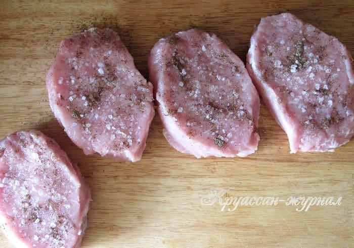 свинина с черносливом-приготовление
