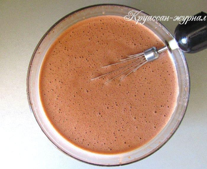 шоколадное мороженое-приготовление