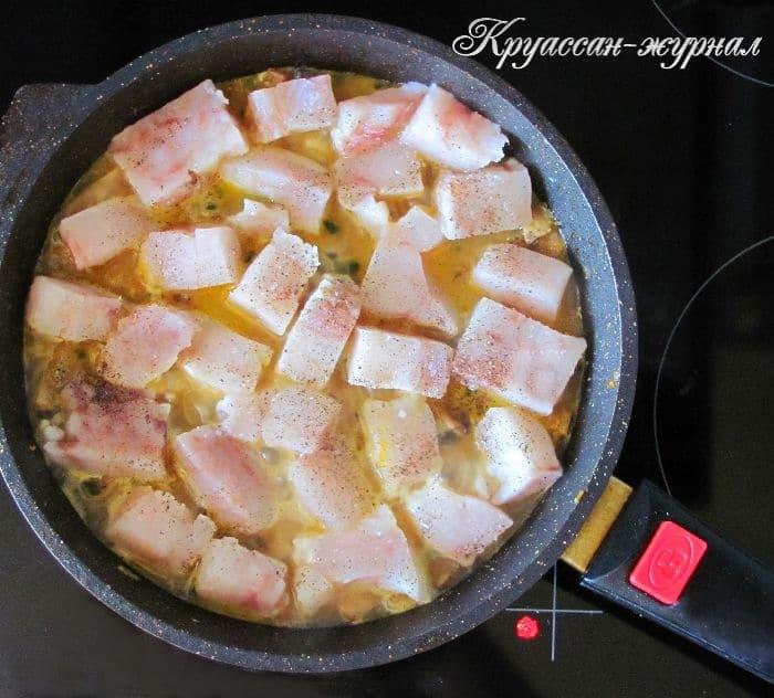 рыба в ракушке-приготовление