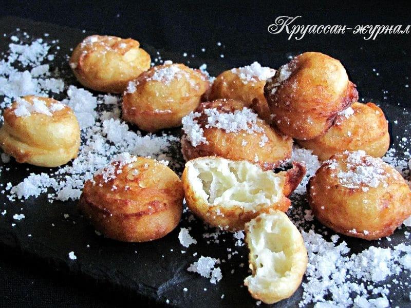 заварные пончики с рикоттой