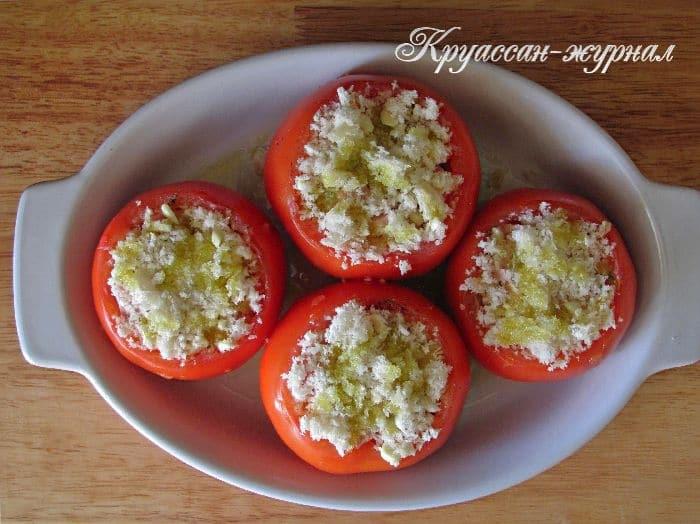 фаршированные помидоры-приготовление