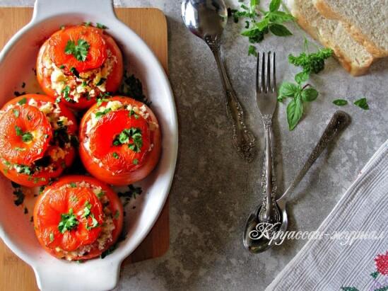 Запеченные фаршированные помидоры – изумительный рецепт