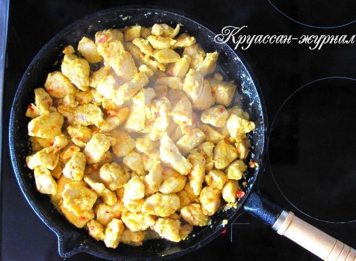 куриное филе кусочками-приготовление
