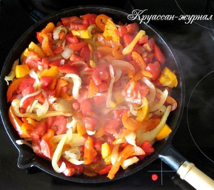 филе индейки с овощами, приготовление