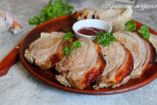 Запечённая свинина с горчицей – ароматно!