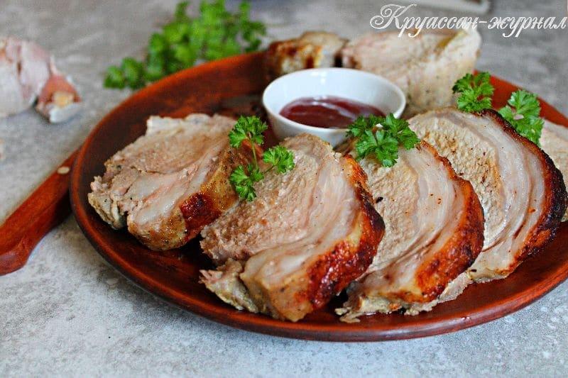 запеченная свинина с горчицей