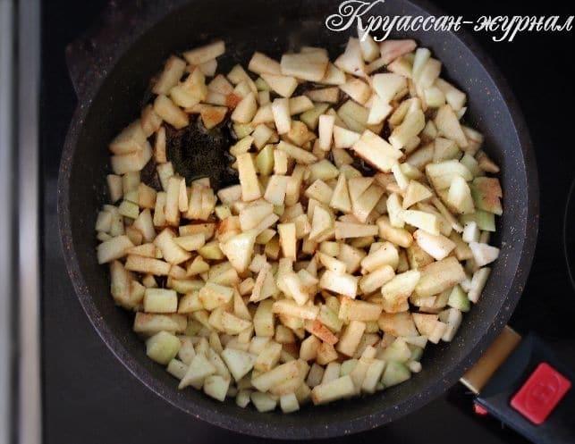 песочные пирожки с яблоками-приготовление