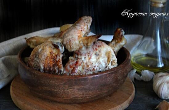 Курица в чесночном соусе – 40 зубчиков чеснока!