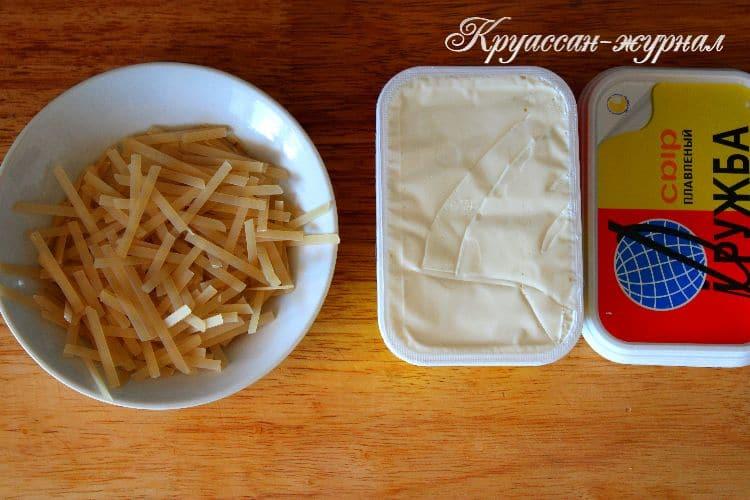 сырный супчик с курицей-приготовление