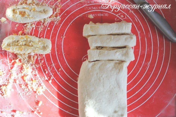 сладкие слоеные булочки-приготовление