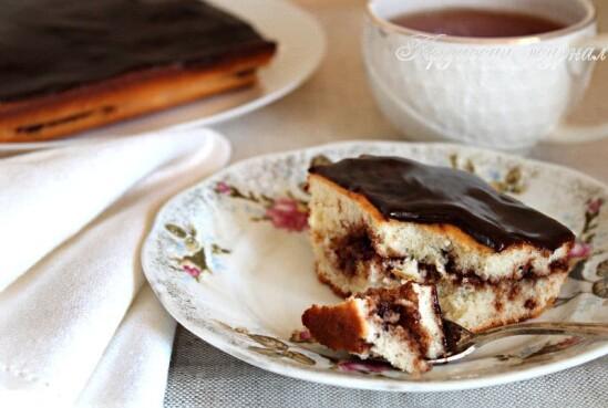 Простой пирог к чаю на сметане