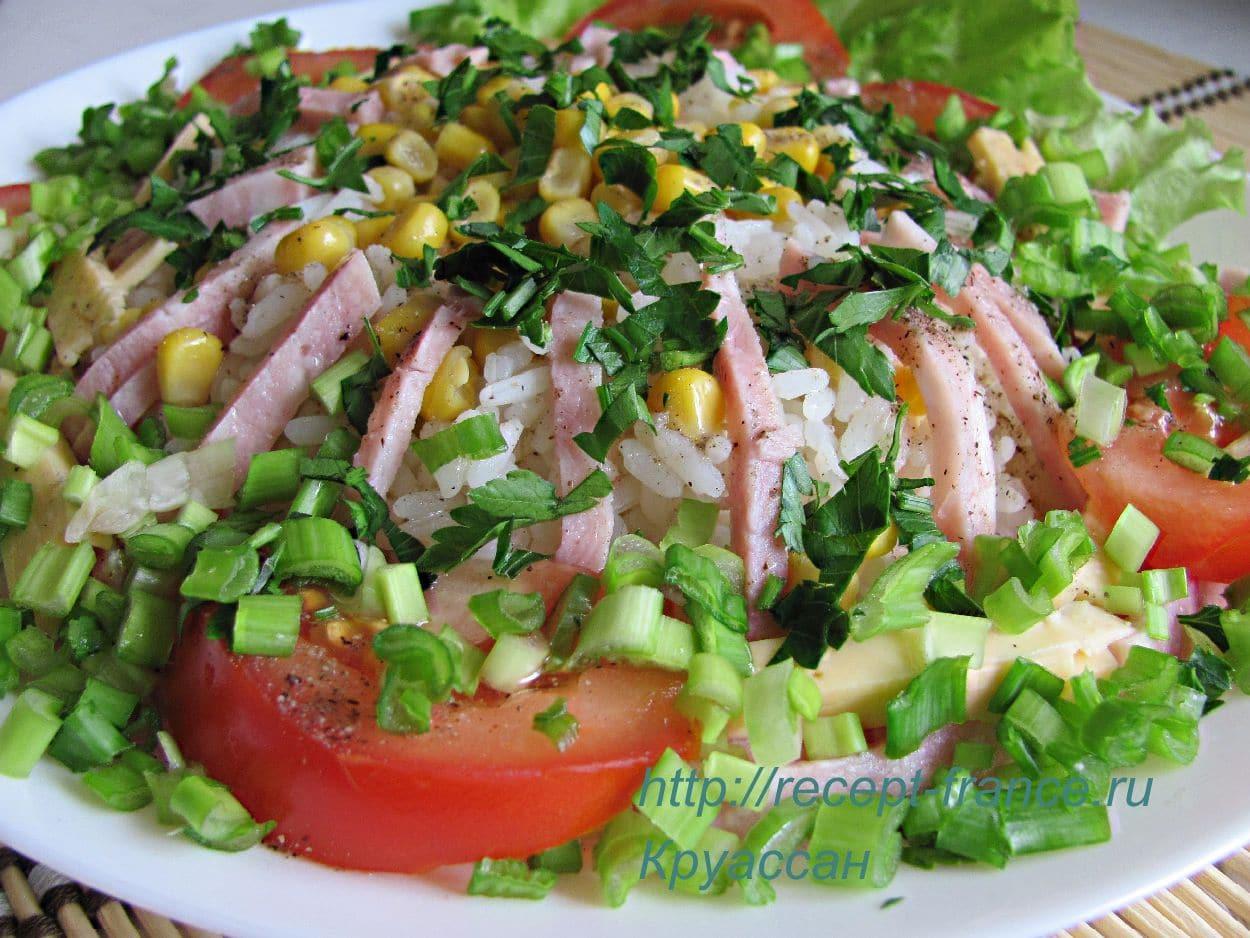 salat s vetchinoi_ risom i kukuruzoi
